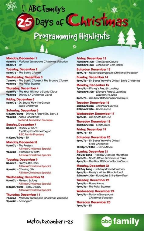 printable schedule of hallmark christmas movies hallmark christmas movie schedule madinbelgrade