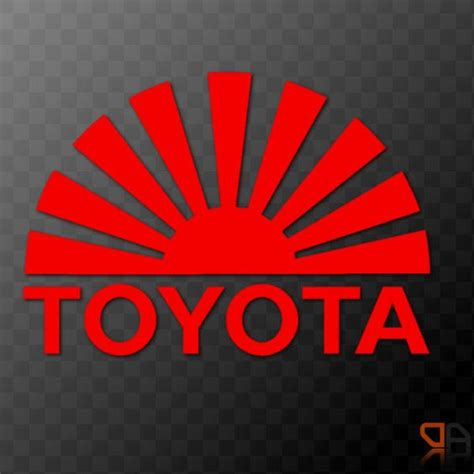 Toyota Rising Details About Toyota Rising Sun Arc Vinyl Decal Sticker