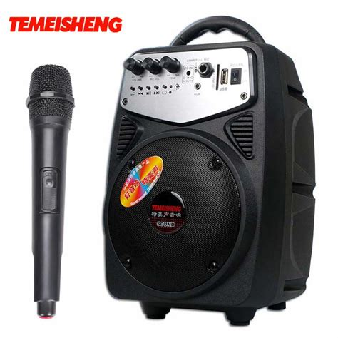 Speaker System Usb 20 2 Speaker aliexpress buy q2 high power 20w portable loudspeaker with wireless microphone active