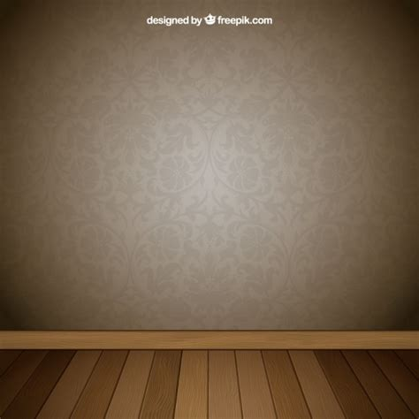 Background Interior by Interior Room With Retro Wallpaper Vector Free
