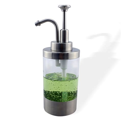 Kitchen Countertop Soap Dispenser Stainless Steel Soap Liquid Dispenser Bottle Kitchen Countertop Refillable Accessory
