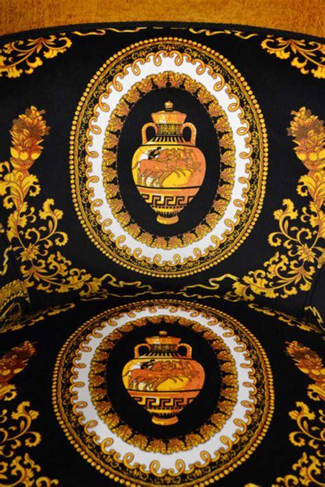 versace fabric upholstery stunning pair of biedermeier armchairs versace fabric