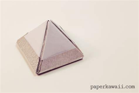 Modular Box Origami - modular origami pyramid box tutorial paper kawaii