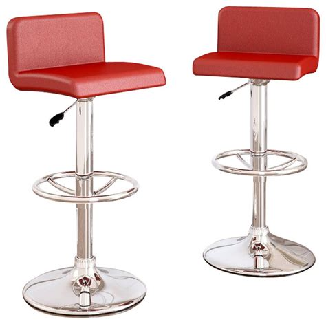 bar stools images sonax corliving low back bar stools red leatherette set