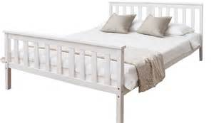 Bed Frame White Wood Bed In White 4 6 Wooden Frame White Ebay