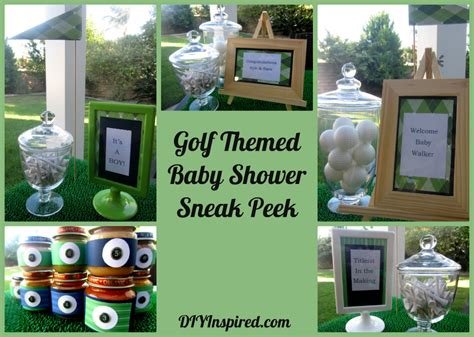 Golf Themed Baby Shower by Golf Themed Baby Shower Sneak Peek Diy Inspired