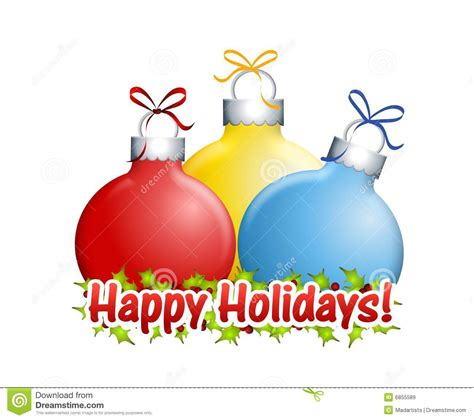 happy holidays ornaments stock illustration illustration