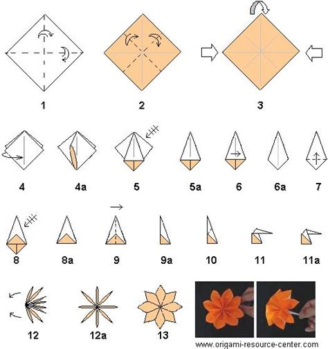 Steps To Make Origami Flowers - direction easy origami 171 embroidery origami