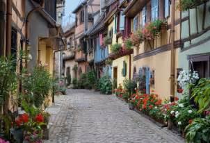 Small Cute Houses Typical Village Eguisheim Eguisheim