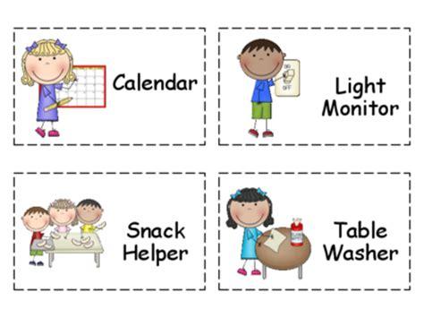 Calendar Helper Clipart Chart Classroom Helpers