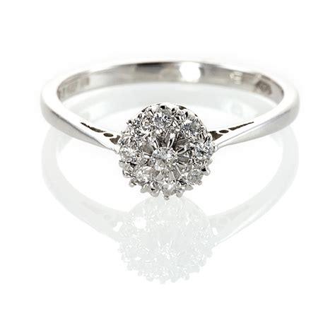 rings cluster wedding promise