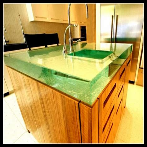 Glass Vanity Countertop Contemporary Backlit Onyx Glass Countertop For Home Design
