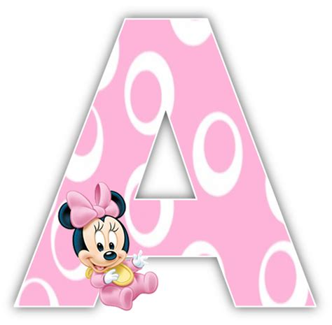 minnie mouse printable alphabet letters baby minnie mouse 1st birthday party alphabet numbers
