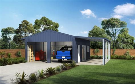 Single Garage With Awning by Garages And Sheds For Sale Ranbuild