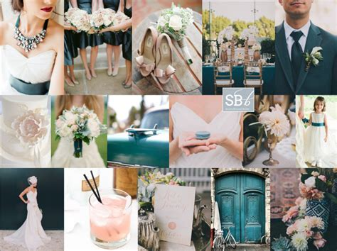 Teal and Blush Inspiration Board