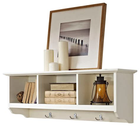 entryway storage shelf brennan entryway storage shelf in white traditional