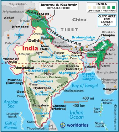 indian subcontinent map world atlas