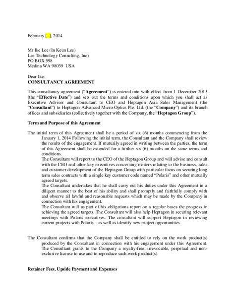 Consultancy Agreement Ike Lee Dr05022014 Copy Consulting Agreement Template California