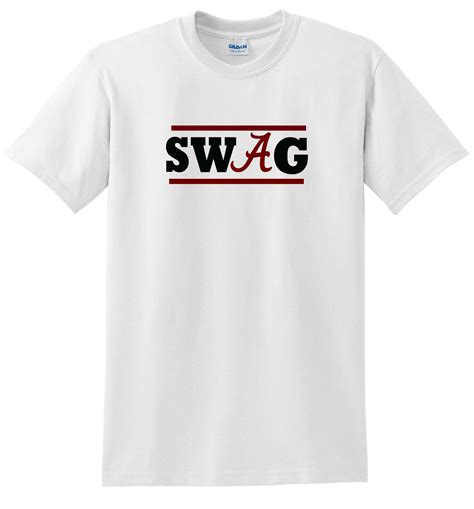 T Shirt Swag alabama swag t shirt crimson tide swag shirt white