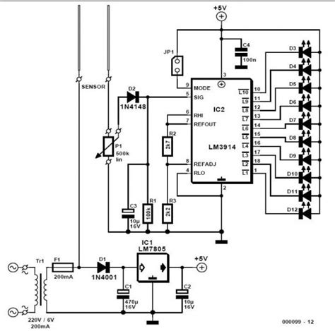integrated circuit output integrated circuit how to get distinct output voltages in lm3914 dot bar cimparator ic