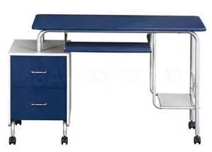 Computer Desk Blue Desks And Tables Kit Blue Silver Computer Desk Rta