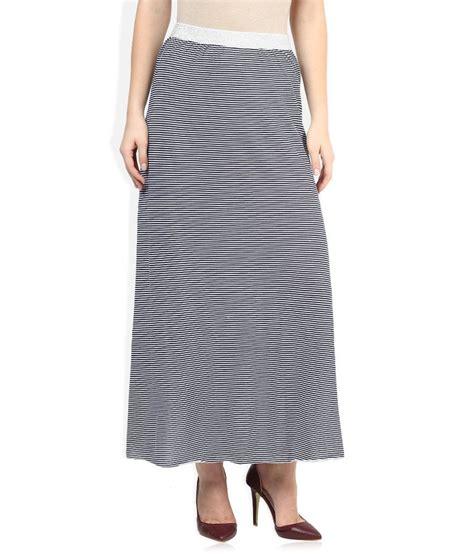 buy sisley white navy striped maxi skirt at best