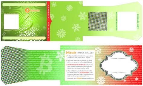 holiday themed bitcoin paper wallet for christmas / new