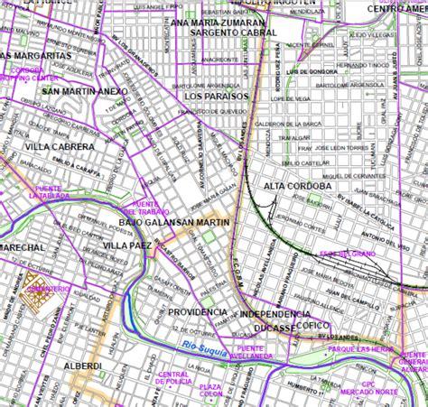 nomenclador cartografico cordoba mapa de la ciudad de arq 1b plano oficial de barrios municipalidad de c 243 rdoba