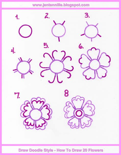 how to draw a doodle flower jen tennille s draw doodle style may 2015