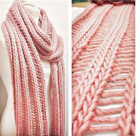 drop stitch knitting simple drop stitch scarf knitting kit by stitch story