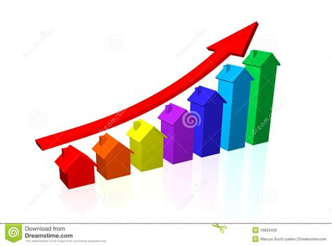 house prices going up stock photo image 16820430