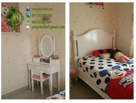 Tempat Tidur Minimalis Warna Putih set tempat tidur anak model terbaru jati pribumi