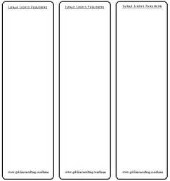 blank bookmark template images