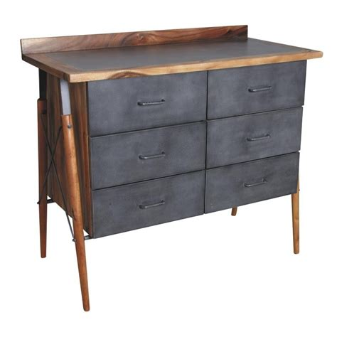 Commode Bois Metal by Commode Bois Et M 233 Tal 6 Tiroirs