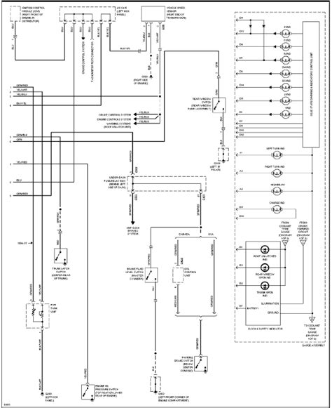 sol cluster wiring diagram pinout honda tech honda