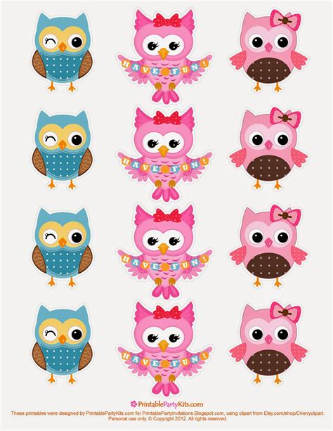 printable owl stickers pretty owls free printable invitations toppers and