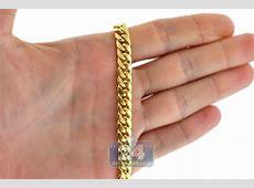 10K Yellow Gold Hollow Miami Cuban Link Mens Chain 7.5 mm K 1710