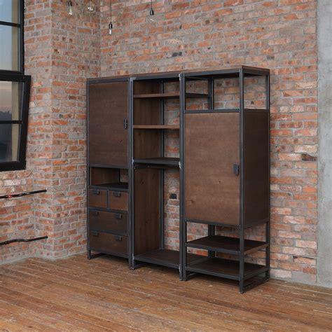 industrial wardrobe unit cosywood co uk