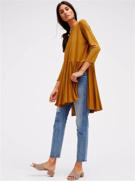Hq 15689 Pocket Casual Crop 1 yellow sweater tunic baggage clothing