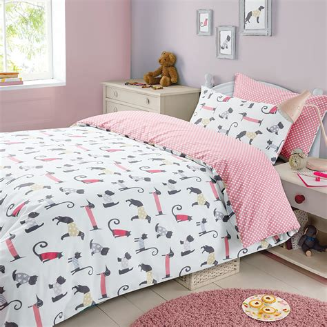 dog bedding set childrens duvet cover with pillowcase bedding set cat