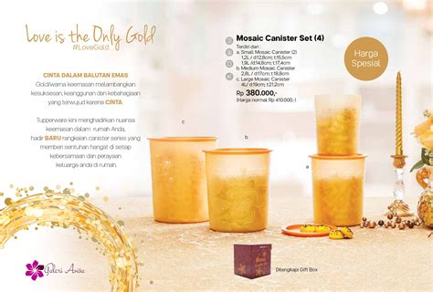 Tupperware Mosaic Canister Set mosaic canister set tupperware katalog promo tupperware
