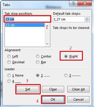 cara membuat daftar isi di word menggunakan tab cara mudah membuat daftar isi di microsoft word