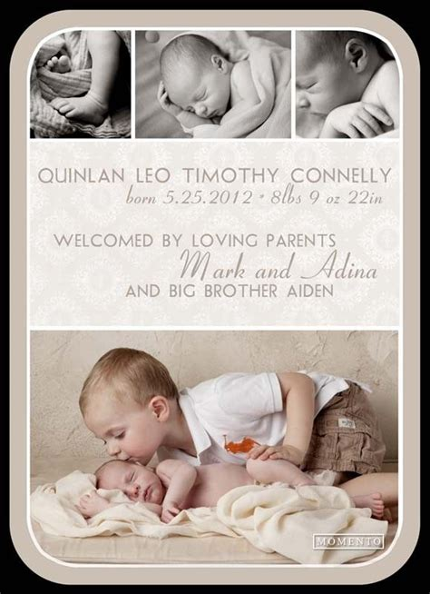 baby announcements templates free birth announcement template baby avery rosalie