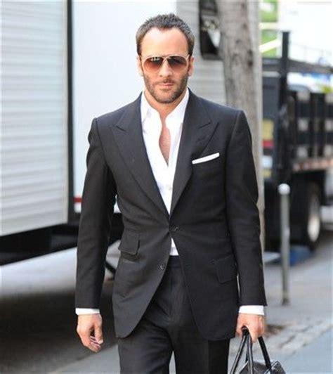 tom ford black suit no tie dress code