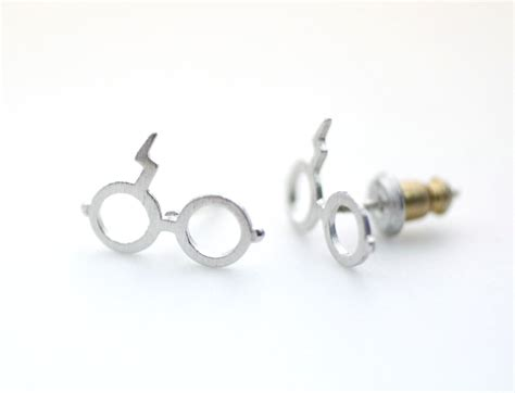 7 Cutest Earrings by Harry Potter Glasses Stud Earrings In Silver On Luulla
