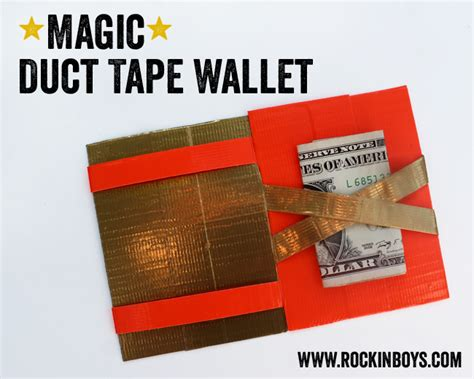 printable directions for a duct tape wallet magic duct tape wallet tutorial rockin boys club