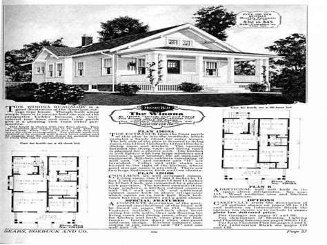 Early 1900s House Plans by House Plans From The 1930s 1930s Sears House Plans Early
