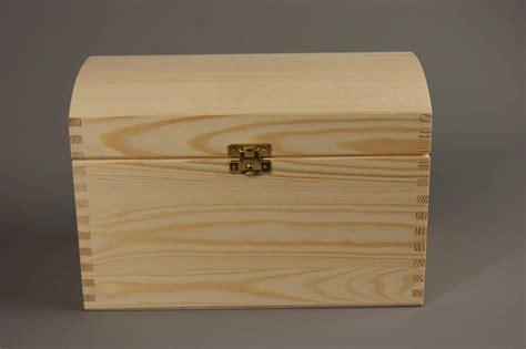 Wooden Wedding Gift Card Box - large treasure chest plain wooden box 25 x 15 x 17 cm wedding cards storage