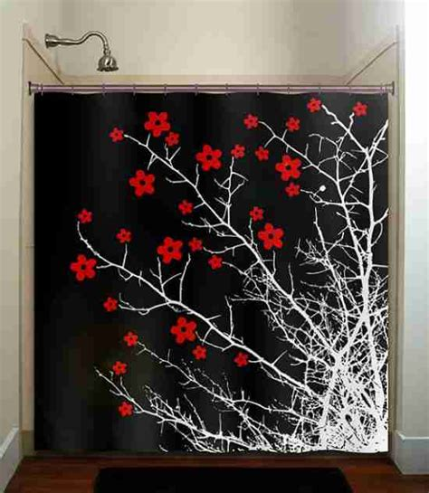 black white red shower curtain red black and white shower curtains decor ideasdecor ideas