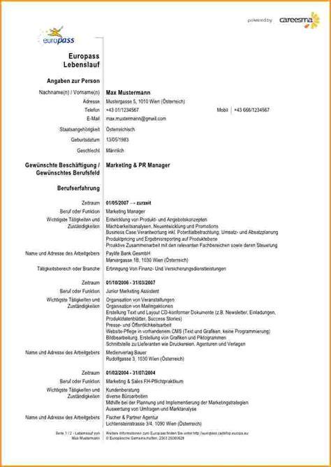 Lebenslauf Muster Englisch Kostenlos 11 Cv Vorlage Englisch Reimbursement Format